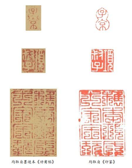 图九、项元汴三方鉴藏印对比