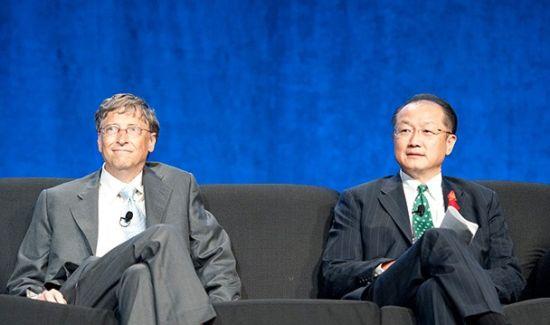 比尔-盖茨和世界银行行长金墉