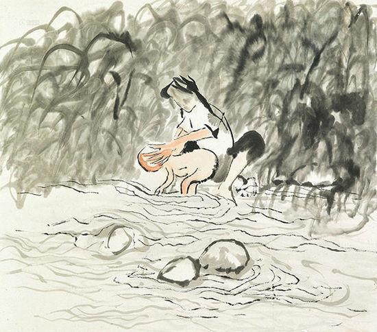 安思远收藏了很多中国当代画家石鲁的作品。