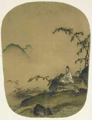 南宋时期的《竹石间焚香图》