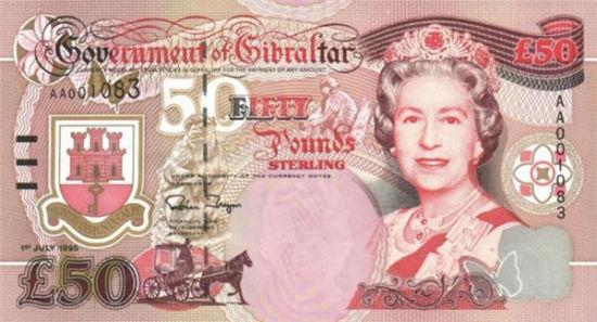 66岁,英女王肖像出现在直布罗陀钞票上。