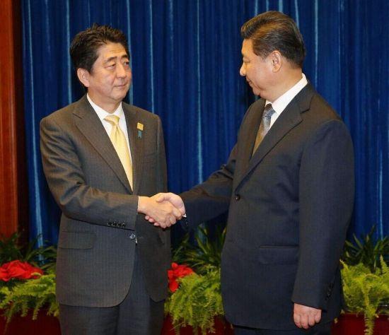 习主席与日本首相安倍晋三