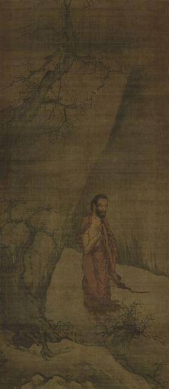 日本东京国立博物馆藏南宋梁楷《出山释迦图》