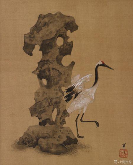 沈宁(b.1976)鹤石图