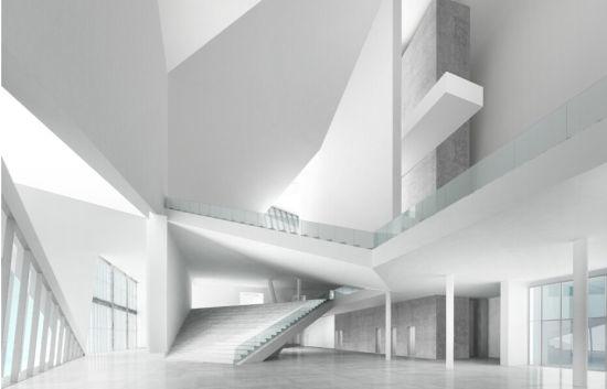 北京民生现代美术馆内部效果图