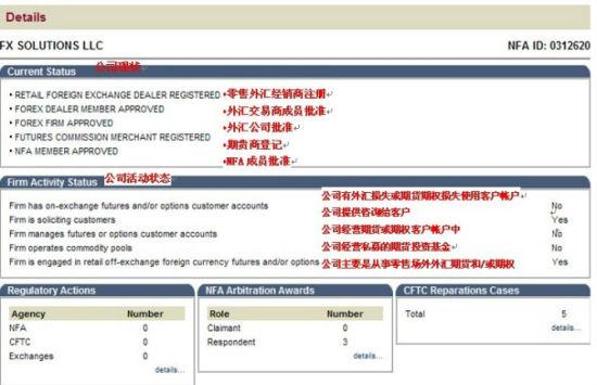 以FXSOL为例,在NFA ID输入编号,或者Firm Name输入公司名称。