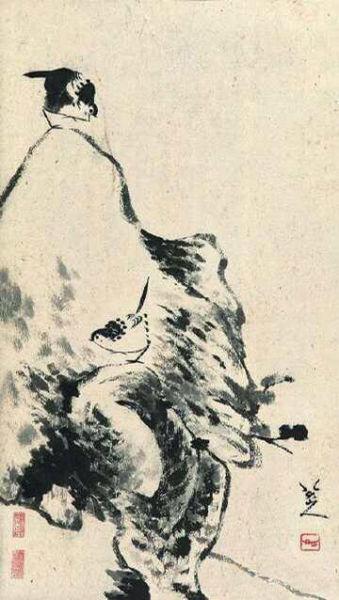 八大山人 鸟石图