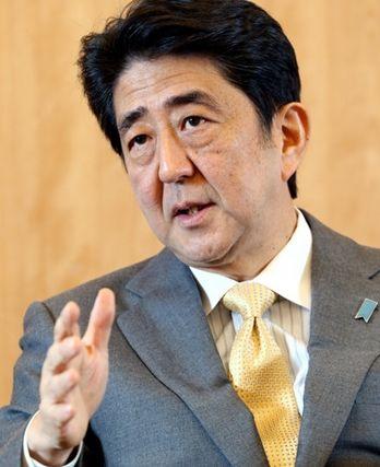 材料图:日本辅弼安倍晋三。