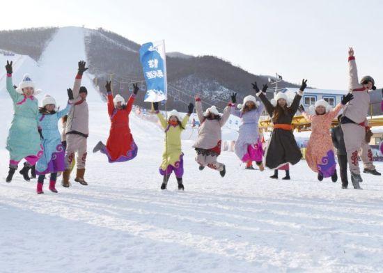 2016呼伦贝尔冰雪那达慕暨第八届金龙山滑雪节举办