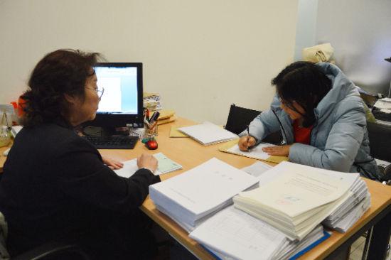 潍坊风筝办工作人员现场填报表格