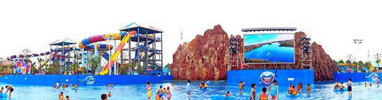 洋沙湖国际旅游度假区欢乐水世界。