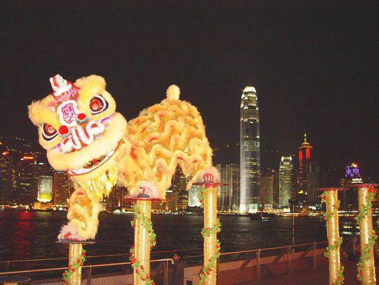 香港龙狮节活动将在2011年元旦日举行