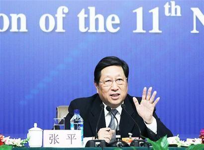 国家发改委主任张平。