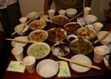宝兴邓池沟当地农户欢迎的晚餐