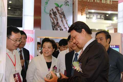 陈宗兴副主席在展览会现场与参展商交谈(组图)