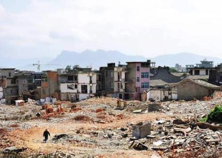 福州七百年古村落被拆掉建火车站(组图)