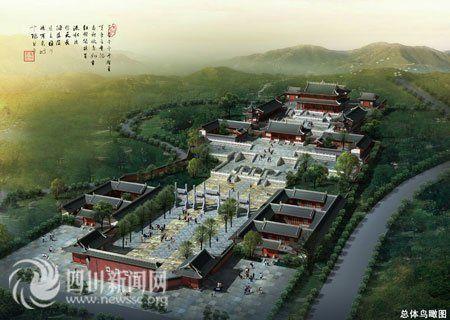 四川都江堰28亿元重建古城区 街头可赏水景