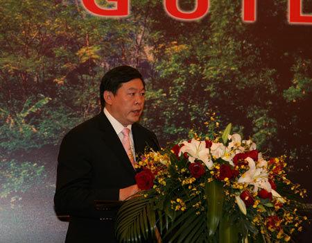 推介会现场图片:桂林市市长张秀隆演讲