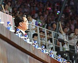 胡锦涛掀开第26届世界大学生运动会帷幕