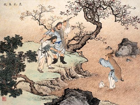 古代二十四孝故事:鹿乳奉亲(图)