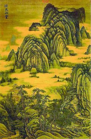 桃花林画画图片