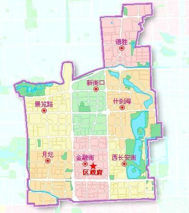 资料图片:原北京西城区地图