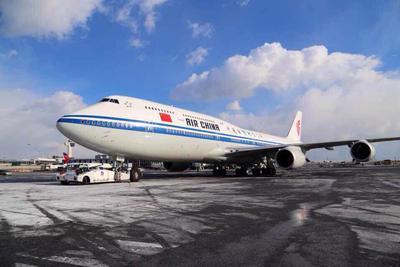 国航全新747-8开飞国际远程航线 顺利首航北京-纽约