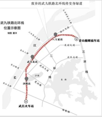 武九铁路北环线将变身绿道 打造世界级城市公共空间