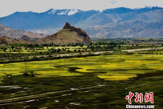 西藏江孜古城主打旅游名片