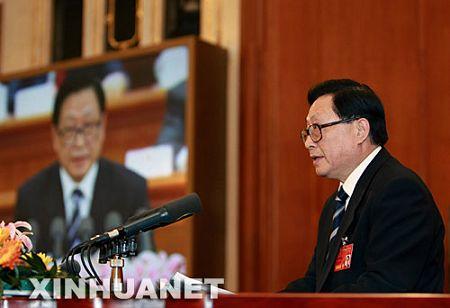 华建敏作关于国务院机构改革方案的说明