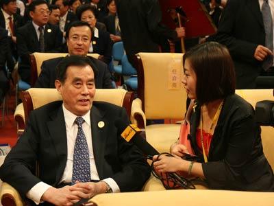图文:新浪财经专访国家海关总署署长盛光祖