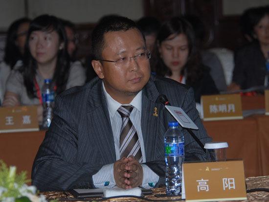 图文:鹏华基金公司副总裁高阳参加论坛_会议讲