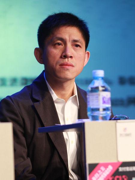 """""""2012中国技术商业领袖峰会""""于2012年11月16-17日在北京举行。上图为友友系统总经理姚宏宇。(图片来源:新浪财经 梁斌 摄)"""