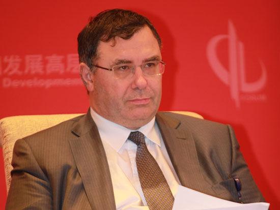 """由国务院发展研究中心主办的""""中国发展高层论坛2015""""于3月21日-23日在北京举行。图为道达尔集团首席执行官潘彦磊。"""