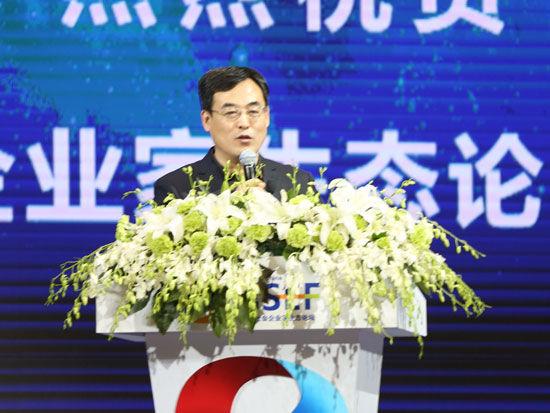 """""""首届全球社会企业家生态论坛""""于2015年11月25日-27日在北京召开。上图为北京华夏管理学院执行院长王图强。(图片来源:新浪财经)"""