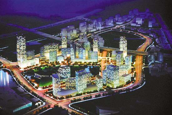 广州国际商品展贸城设计方案之一本报记者 朱文海 摄