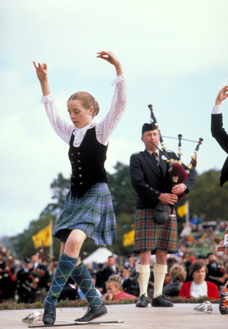 苏格兰短裙被评世界上最受欢迎传统服装(图)