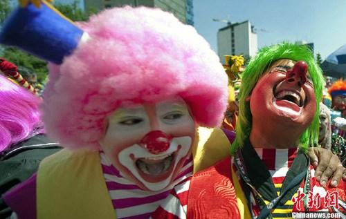 国际小丑公约大会 全球小丑云集墨西哥(组图)