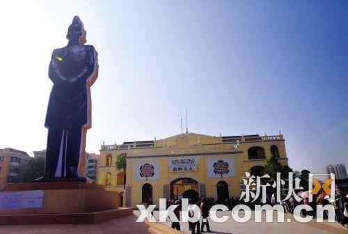 首座孙中山戎装塑像将立广州大元帅府广场(图)