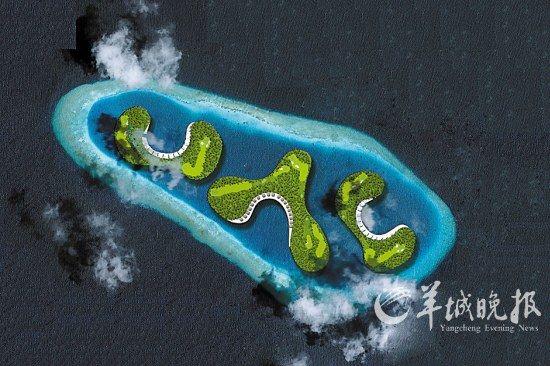 马尔代夫即将建成奇妙的漂浮高尔夫球场(组图)