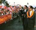 江泽民主席对美国进行国事访问