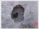 以军炸弹穿透联合国加沙学校多层墙体