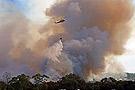 直升机在紧急灭火