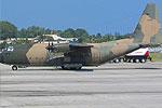 迷彩装印尼空军C-130军用运输机
