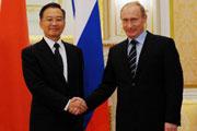 温家宝与普京会晤