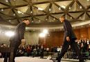 奥巴马步入演讲台