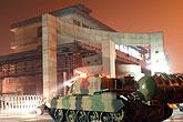 省内唯一消防坦克出动