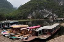 漓江杨堤河段河床裸露