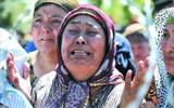 乌兹别克族女士哭泣