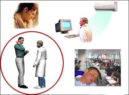空调病常见颈肩痛